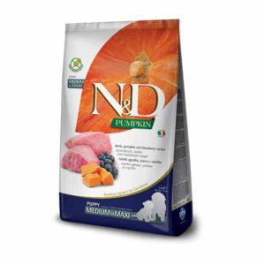 n&d farmina pumpkin lamb blueberry puppy medium maxi hrana za štence