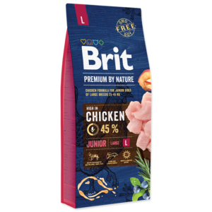 Brit premium by nature junio s piletinom za mlade pse i velike pasmine