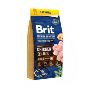 Brit Adult M 15kg + 3kg gratis