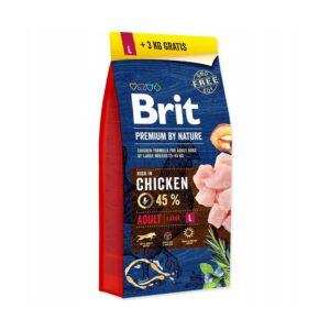 Brit adult L 15kg+3kg gratis