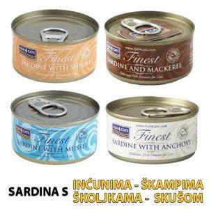 Fish4Cats konterva sardina CETIRI OKUSA