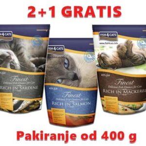 Fish 4 Cats 400g 2+1 gratis