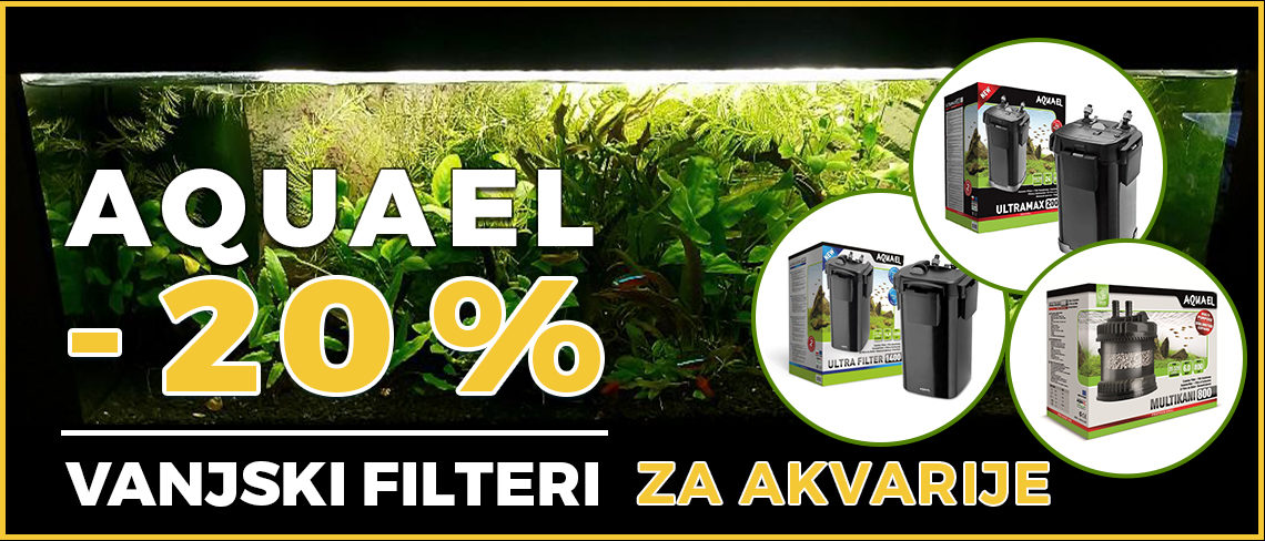 Akcija vanjskih filtera za akvarij aquael