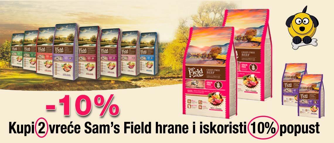 Sam's Field kupi 2 vreće i ostvari 10% popust